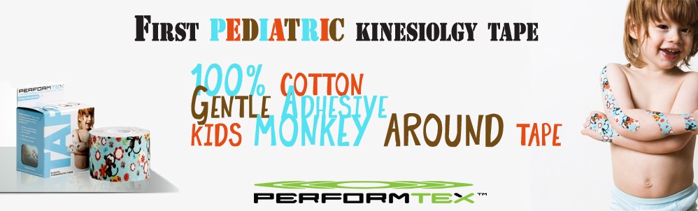 Pediatric kinesiology tape